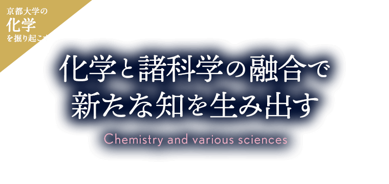 Rediscovering KyotoU chemistry Fusing chemistry with other sciences to generate new knowledge